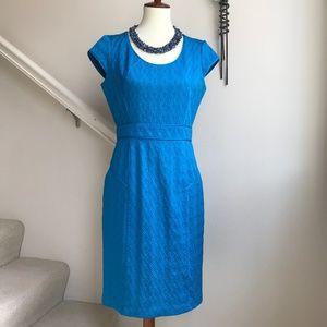 Adrianna Papell Turquoise Midi Dress